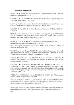 Referências bibliográficas HEWITT, HG Fungicides