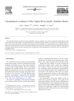 Geochemical evolution of the Capim River kaolin