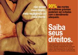 Saiba seus direitos. - Rede Feminista de Saúde