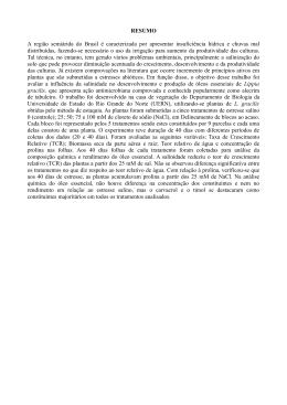 RESUMO A região semiárida do Brasil é caracterizada por