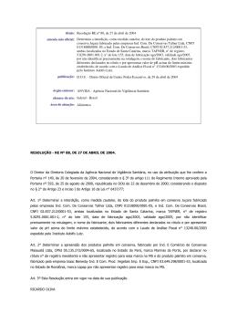 título: Resolução RE nº 88, de 27 de abril de 2004 ementa não