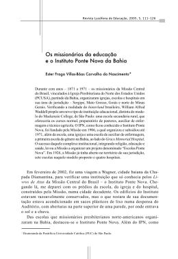 Os missionários da educação e o Instituto Ponte Nova da Bahia