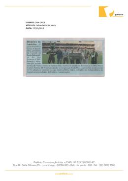 Folha de Ponte Nova DATA: 22/11/2015
