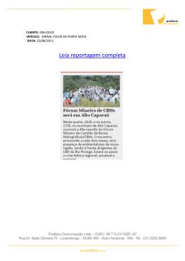25/08 Jornal Folha de Ponte Nova