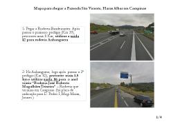 Mapa para chegar a Fazenda São Vicente, Haras
