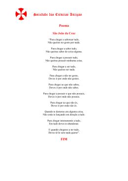 Poema 1 - Sociedade das Ciências Antigas