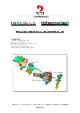 Mapa para chegar até a TCM Informática Ltda