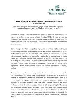 Novos Uniformes para Rede Abr/2015
