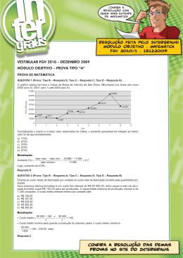 Módulo Objetivo - Matemática FGV 2010/1 - 13.12.2009