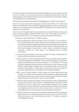 Teor do ofício endereçado à Comissão Parlamentar de Economia e