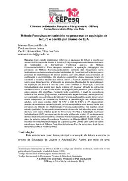 Método Fonovísuoarticulatório no processo de aquisição