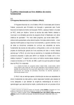 O Programa Nacional do Livro Didático (PNLD) - Maxwell - PUC-Rio