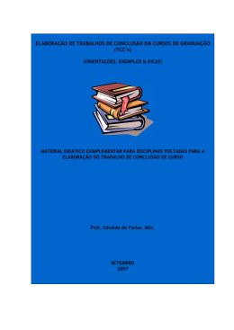 Dicas e Orientações para Elaborar TCC`s - e-book