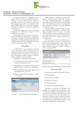 Análise de Tráfego do TCP e UDP usando o Wireshark.