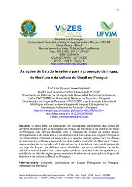 As ações do Estado brasileiro para a promoção da língua