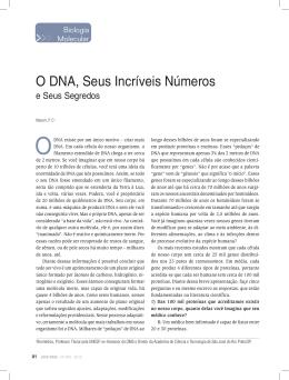 O DNA, Seus Incríveis Números - Academia de Ciência e Tecnologia