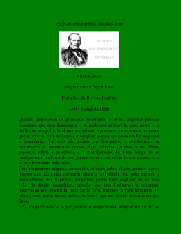 Allan Kardec - Magnetismo e Espiritismo (Analisado por Kardec
