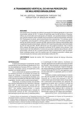 a transmissão vertical do hiv na percepção de mulheres brasileiras
