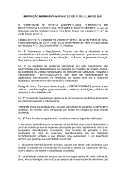 Instrução Normativa MAPA nº 22/2011