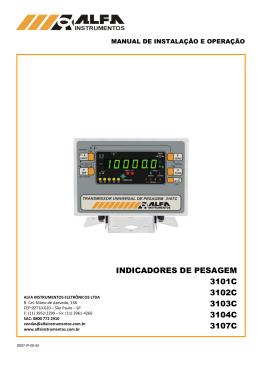 manual de instalação e operação
