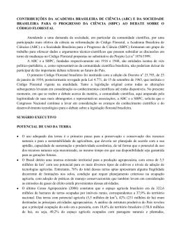 CONTRIBUIÇÕES DA ACADEMIA BRASILEIRA DE CIÊNCIA