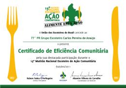 77° PR Grupo Escoteiro Carlos Pereira de Araújo