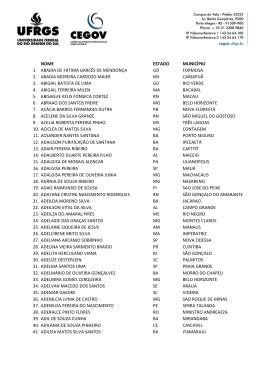 lista de selecionados