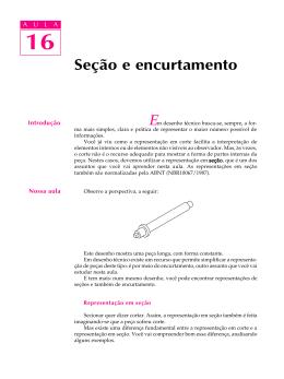 Se o e encurtamento - Desenho Técnico de Mecânica