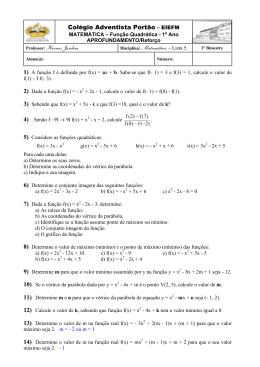 Colégio Adventista Portão – EIEFM Professor: Hermes Jardim