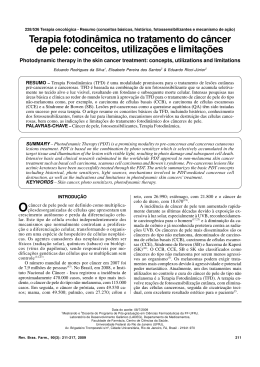 Terapia fotodinâmica no tratamento do câncer de pele: conceitos