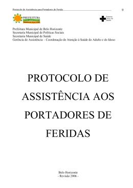 protocolo de assistência aos portadores de feridas