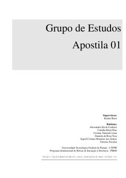 Grupo de Estudos Apostila 01