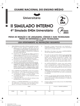 IV Simulado ENEM Universitário   Segundo dia   Prova