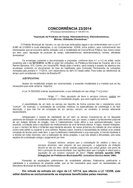 Edital - Prefeitura Municipal de Vacaria