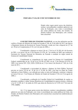 Portaria STN nº 634/2013 - Tesouro Nacional