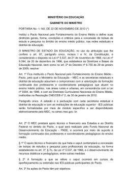 PORTARIA No -1.140, DE 22 DE NOVEMBRO DE 2013