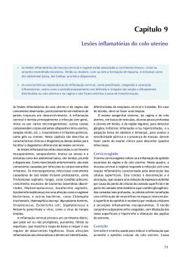 Capítulo 9 Lesões inflamatórias do colo uterino