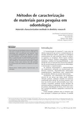 Métodos de caracterização de materiais para pesquisa em