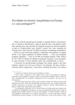 Novidades do Terreno. Muçulmanos na Europa e o