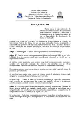 Resolução 04/2009 - Secretaria Geral dos Cursos