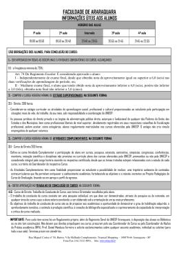 01 - Informações Úteis aos Alunos Aqua já UNIESP