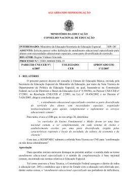 Parecer CNE/CEB nº 6/2007