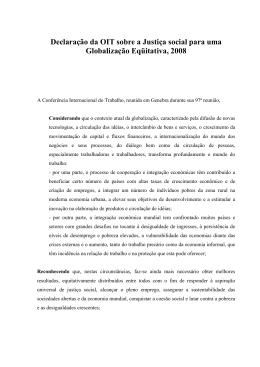 Declaração sobre Justiça Social para uma Globalização Equitativa