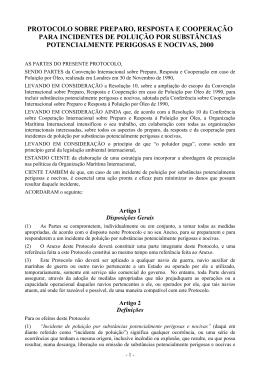 protocolo sobre preparo, resposta e cooperação para