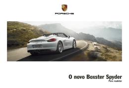 O novo Boxster Spyder