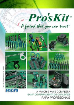 Catalogo Instrumentação e Ferramenta PROSKIT 2014
