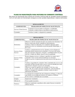 SEMANALMENTE COMPONENTES TRABALHOS DE INSPEÇÃO