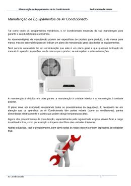 Manutenção de Equipamentos de Ar Condicionado