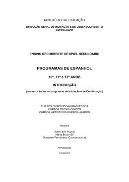 PROGRAMAS DE ESPANHOL - Direção