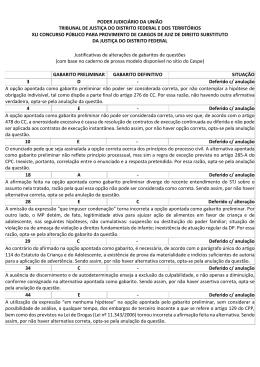 PODER JUDICIÁRIO DA UNIÃO TRIBUNAL DE